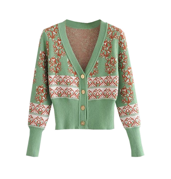 French Vintage Slimming Cardigan