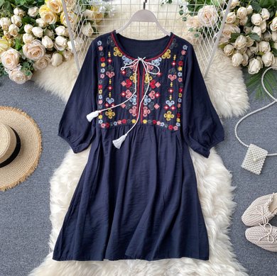 Embroidered Tassel Tunic