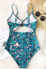 Ribbon-Tie Hollow-Cut Swimsuit