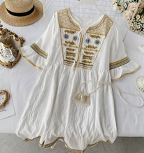 Ethnic Embroidery Tunic Dress