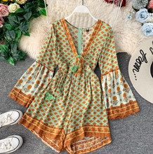 Bohemian Laced-up Romper