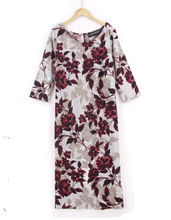 Floral-Print Knitted Midi Dress