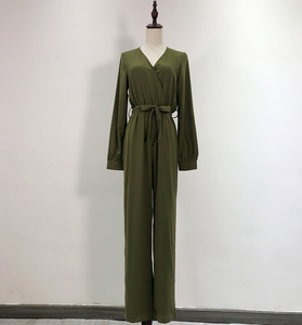 Basic Full-Sleeved Waist-Tie Jumpsuit