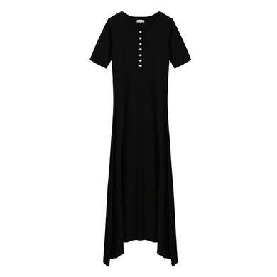 Buttoned Basic Maxi Dress