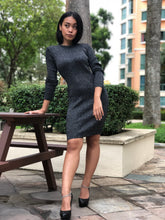 Shimmery Knitted Midi Bodycon