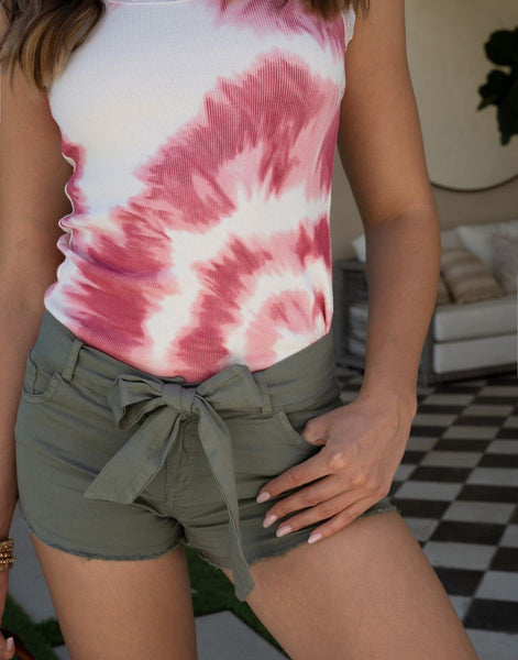 Bow Tie Crinkle Shorts