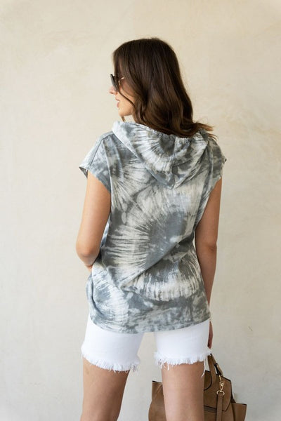 Peace and Love Tie Dye Sleeveless Pullover Top
