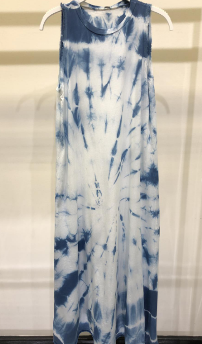 Spiral Tie-dye Sleeveless Maxi Dress