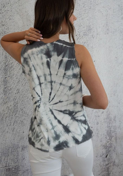 Spiral Tie Dye Sleeveless Tank Top