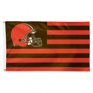 Cleveland Browns Patriotic Flag