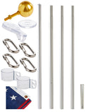 17' defender sectional flagpole kit contents