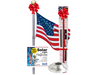 Liberty Telescopic Flagpole Bundle with Solar Light & Flash Collar
