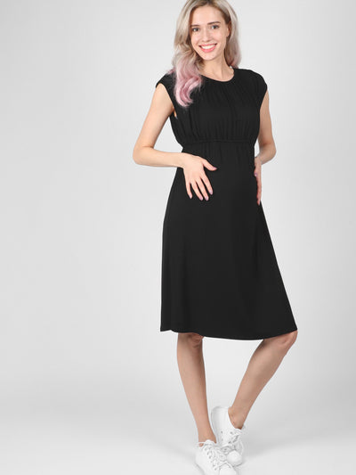 Maternity Black Louise Dress
