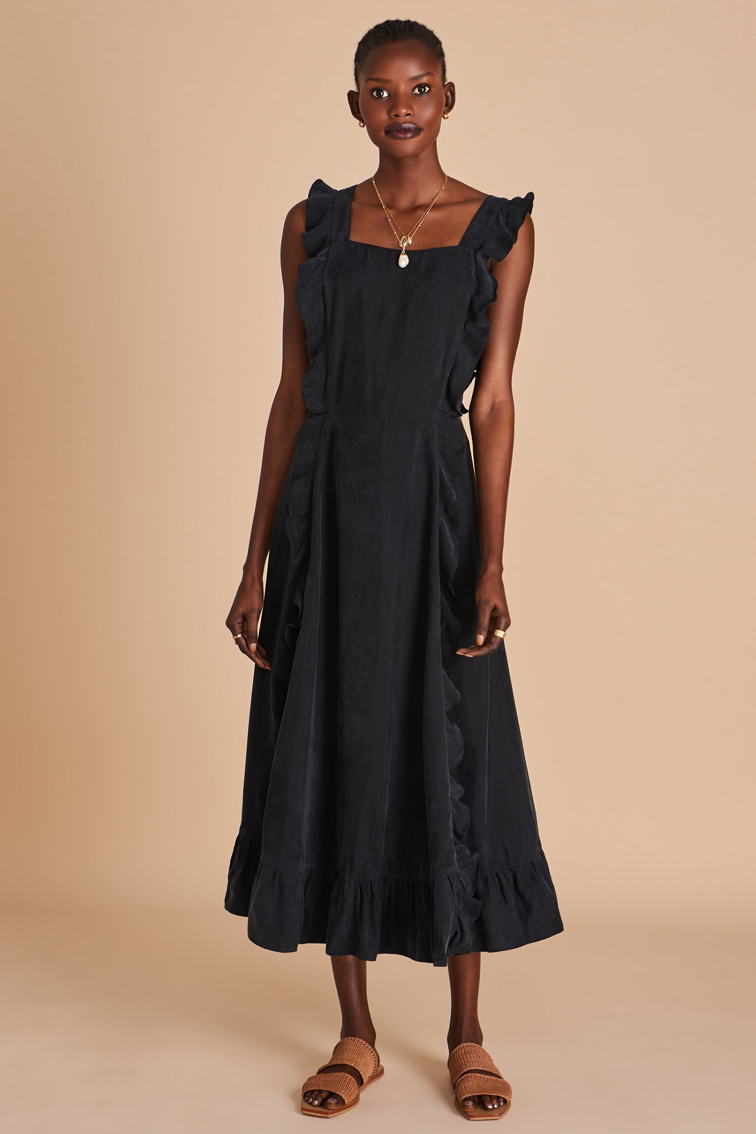SANCIA BIJOU DRESS IN BLACK MADE FROM SUSTAINABLE
