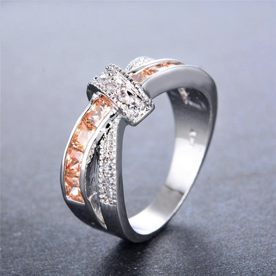 Luxxis Champagne Cross Ring - Luxxis Jewelry