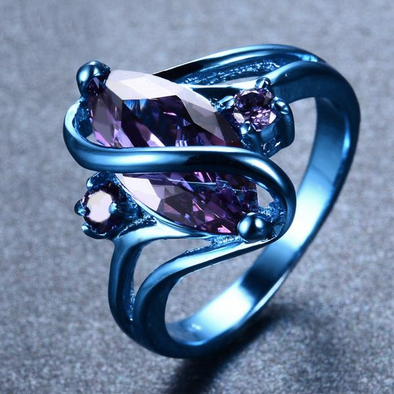 Luxxis Violet Gem Round Ring - Luxxis Jewelry