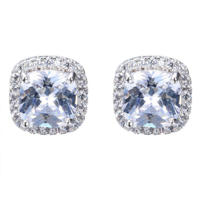 Luxxis White Square Stud Earrings - Luxxis Jewelry