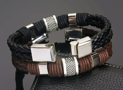 Luxxis Alloy Genuine leather Bracelet