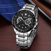 Black Vogue Business Military Man watches - Luxxis Jewelry