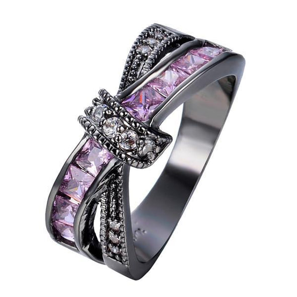 Luxxis Pink Cross Ring - Luxxis Jewelry