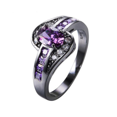Luxxis Purple Oval Ring - Luxxis Jewelry