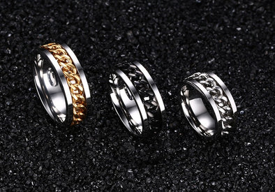 Punk Rock Accessories Stainless Steel Rings - Luxxis Jewelry