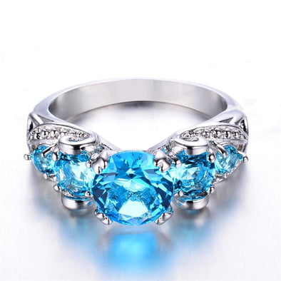 Luxxis Light Blue Round Ring - Luxxis Jewelry