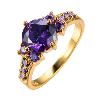 Luxxis Purple Gold Plated Ring - Luxxis Jewelry