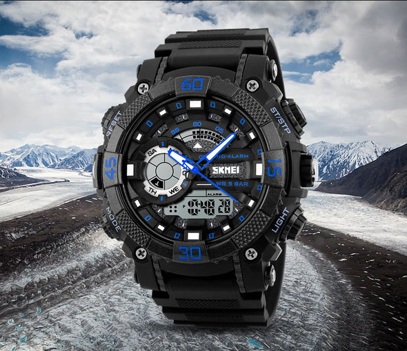 LED Digital Analog Quartz Watch - Luxxis Jewelry