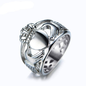 Luxxis Stainless Steel Heart Ring