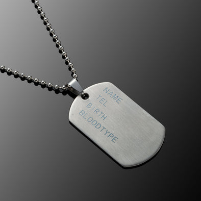 Dog Tags Army Nameplate Mens Pendant - Luxxis Jewelry