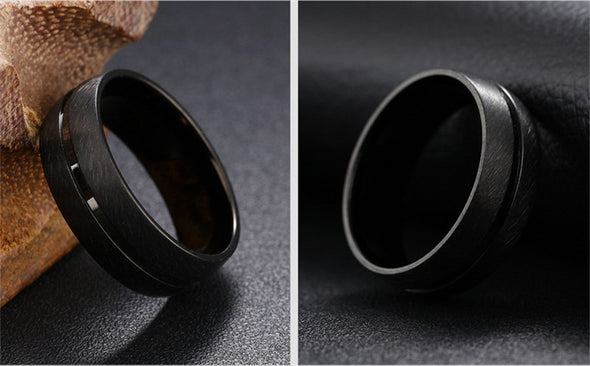 Punk Rock black ring - Luxxis Jewelry