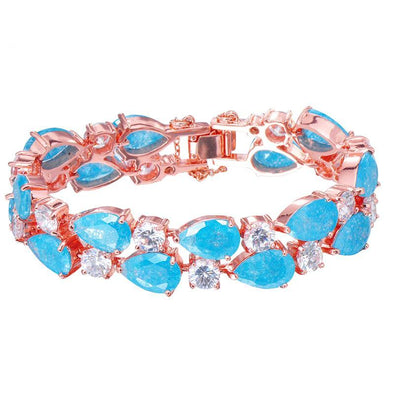 Luxxis Ocean Blue Water Drop Bracelet - Luxxis Jewelry
