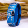Blue Dome CIRCUIT Tungsten Ring - Luxxis Jewelry