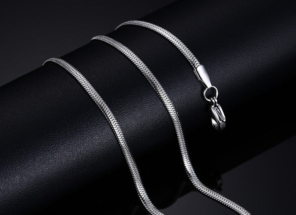 Stainless Steel Silver Color Link Chain - Luxxis Jewelry