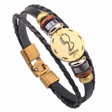 Luxxis Horoscope Leather Bracelet