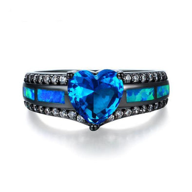 Luxxis Charm Multicolor Heart Zircon Opal Ring - Luxxis Jewelry