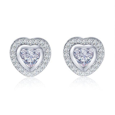 Luxxis Heart Stud Earrings - Luxxis Jewelry
