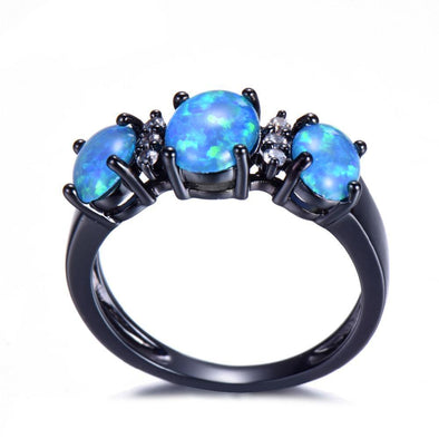 Luxxis Blue Fire Opal Ring - Luxxis Jewelry