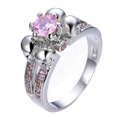 Luxxis Punk Pink Zircon Ring - Luxxis Jewelry