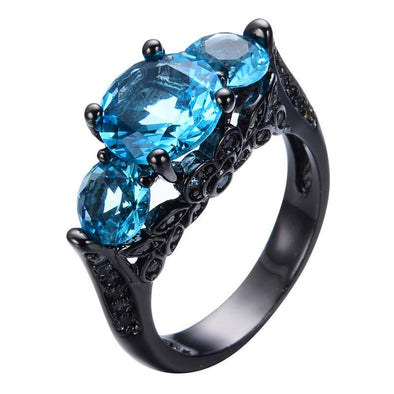 Luxxis Sky Blue Birthstone Ring - Luxxis Jewelry