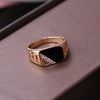 Black Enamel Rings - Luxxis Jewelry