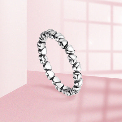 Forever Love Heart Finger Ring - Luxxis Jewelry