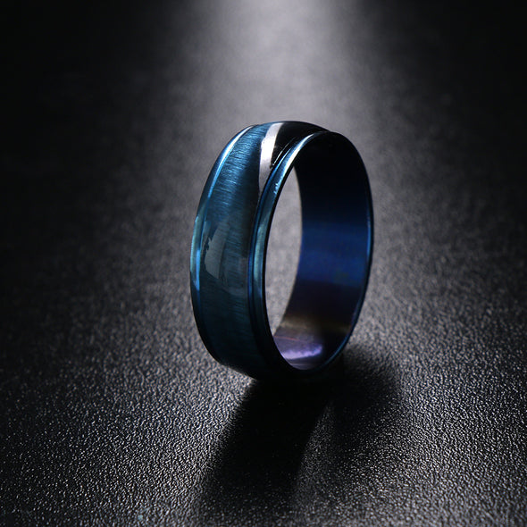 Stainless Steel Blue Lovers Rings - Luxxis Jewelry