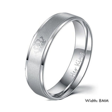 King Stainless Steel Wedding Rings - Luxxis Jewelry