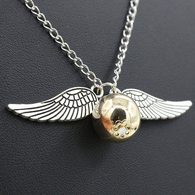 Angel Wing Charm Golden Snitch Pendent - Luxxis Jewelry