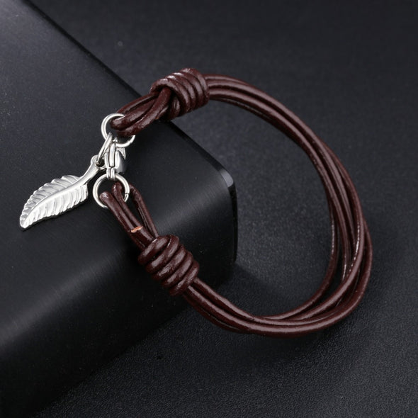Luxxis Unique Punk Men Leather Bracelet