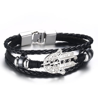 Luxxis Lucky Vintage Men's Leather Bracelet