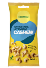 Cashews dry roasted and light salted 60g