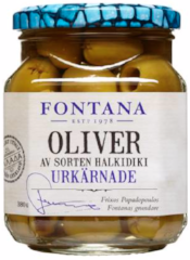 Green Olives Halkidiki seedless 380/210g